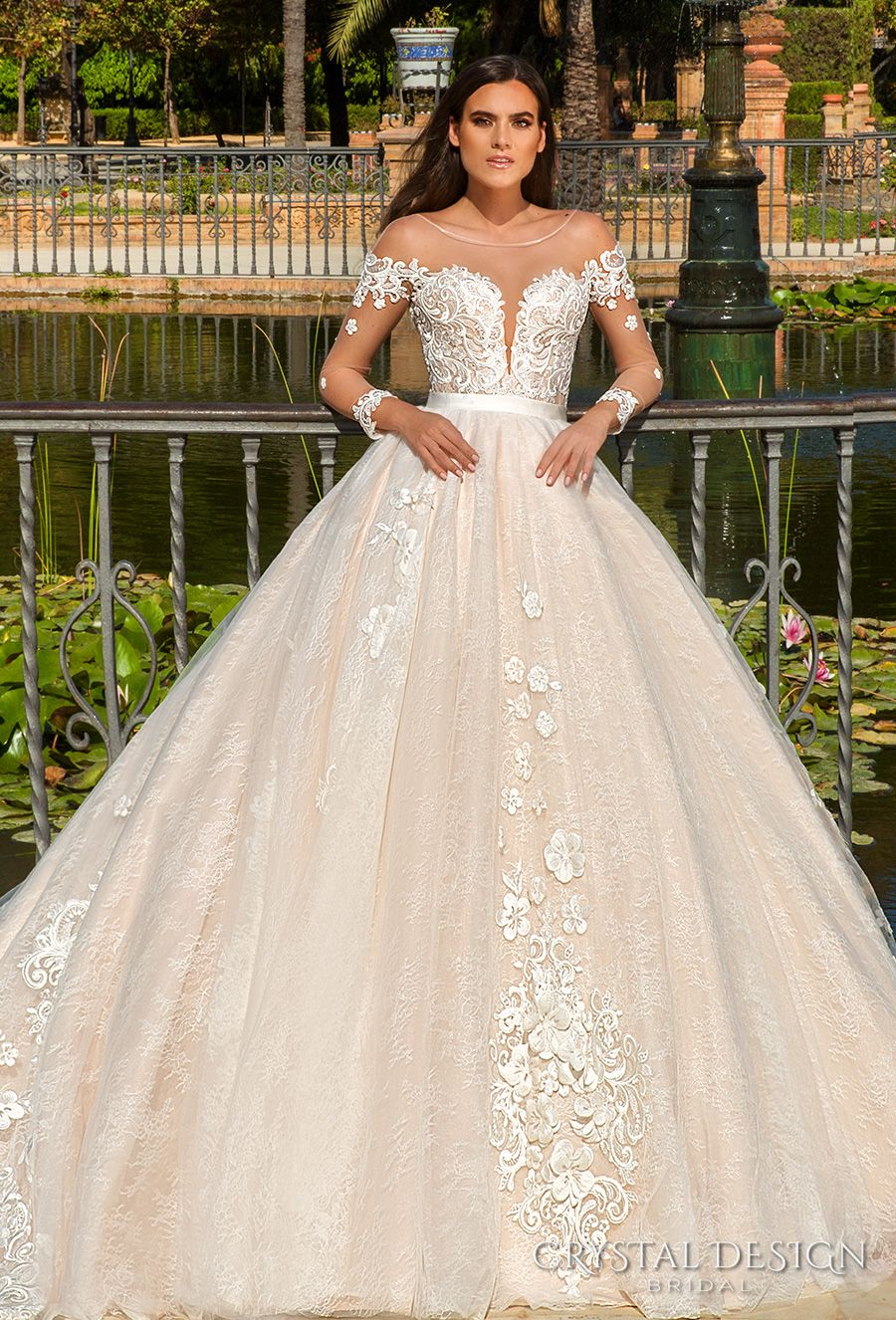 Beautiful wedding dresses from the 2017 crystal design for Romantic wedding dress designers