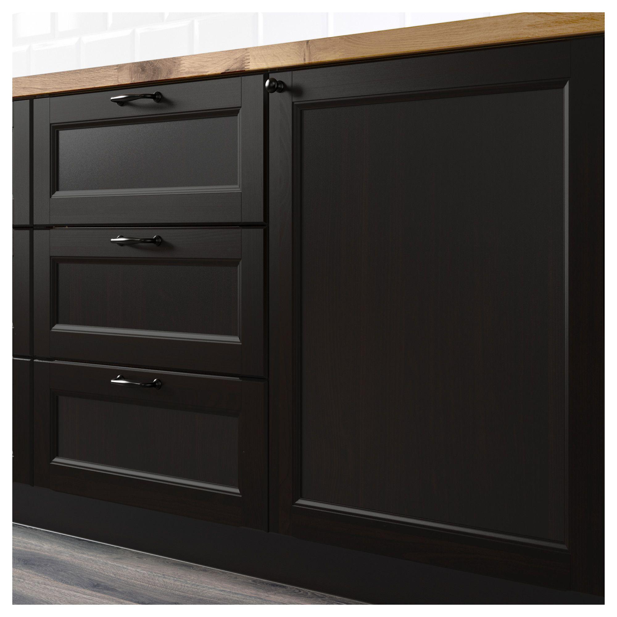 Corner base kitchen cabinet  IKEA  LAXARBY p doorcorner base cabinet set blackbrown  For