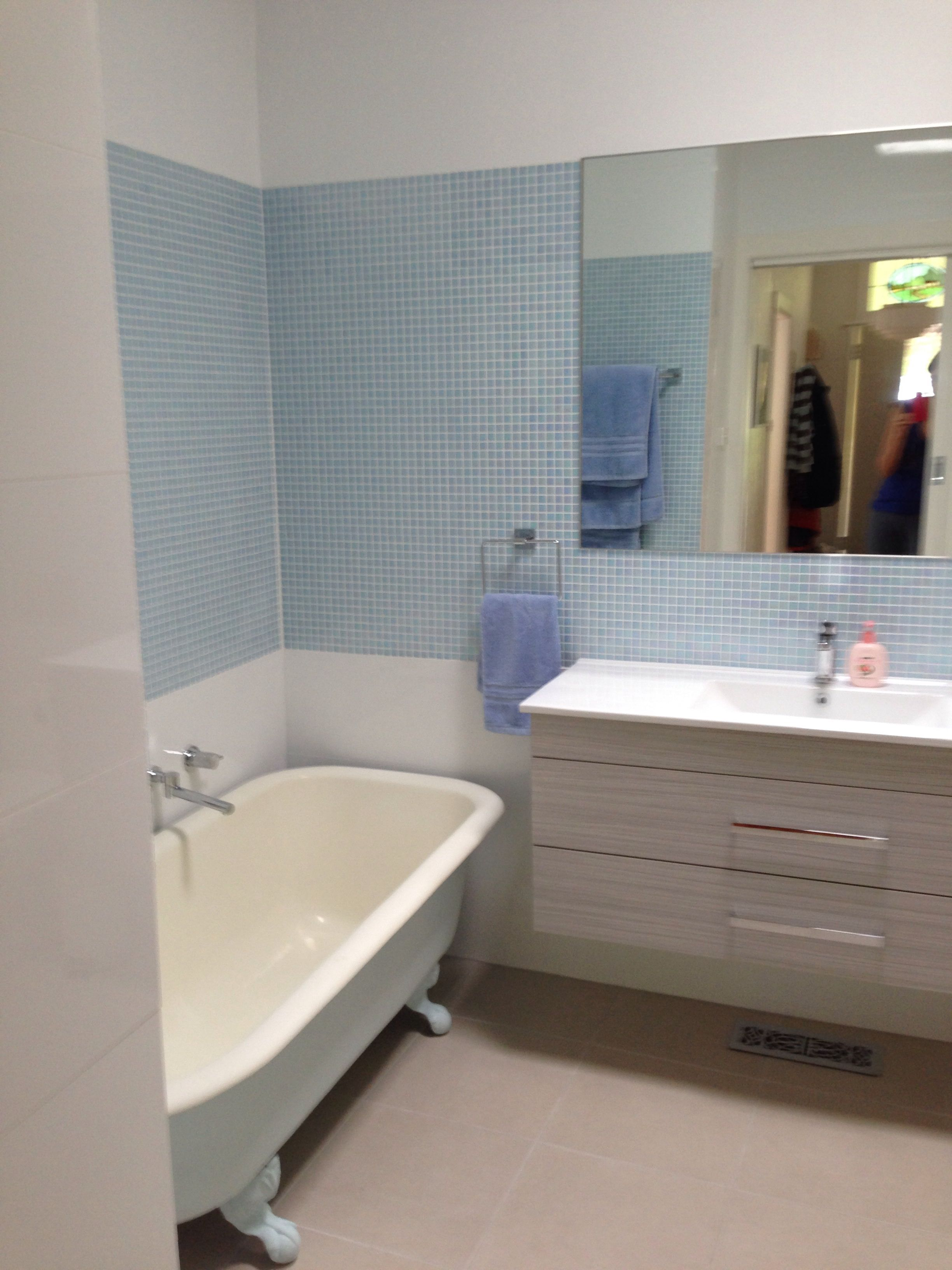 New bathroom bath painted in Dulux Shimmer Half | Bathroom Ideas ...