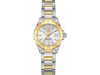 68be484b08ac Aquaracer Lady 27mm watch by TAG Heuer - two-tone steel and yellow gold  case and bracelet with silver and gold non-numerical dial