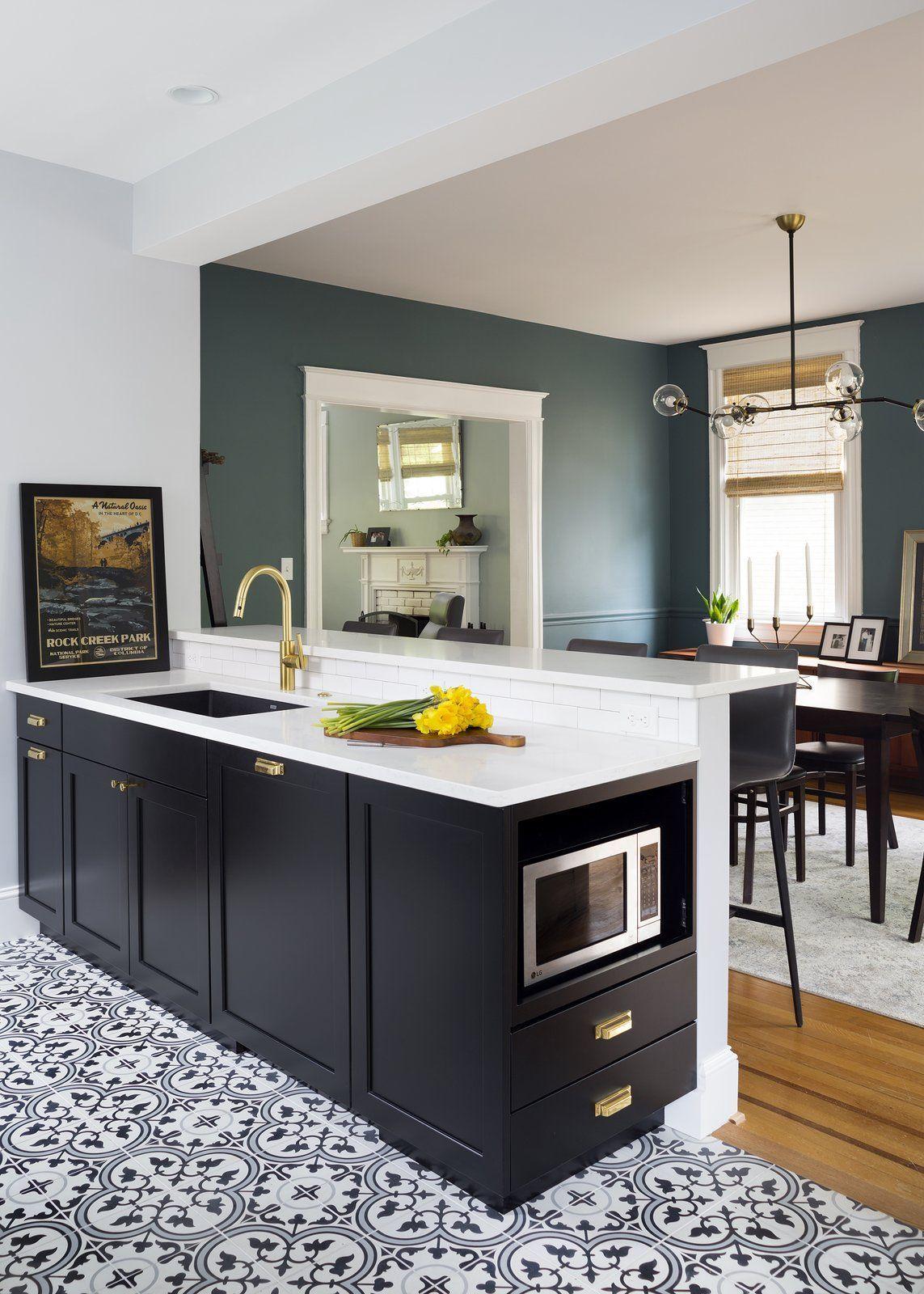 42 Beautiful Kitchen Floor Tile Ideas Kitchen Flooring Kitchen Renovation Country Kitchen Designs
