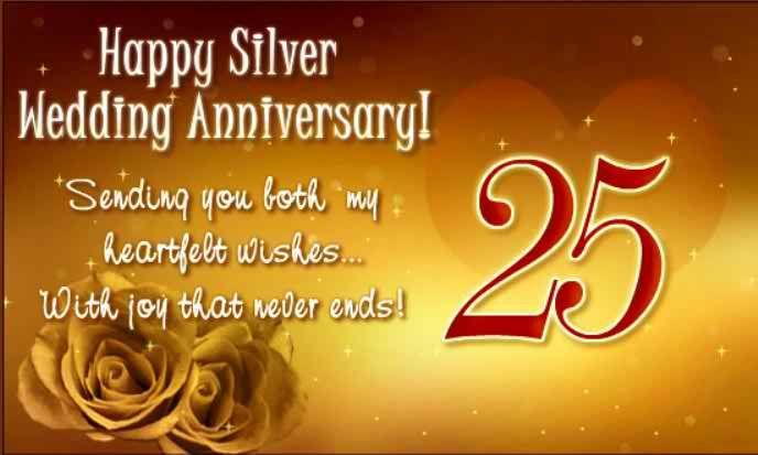 Happy 25 Anniversary 25th Wedding Anniversary Wishes Wallpapers