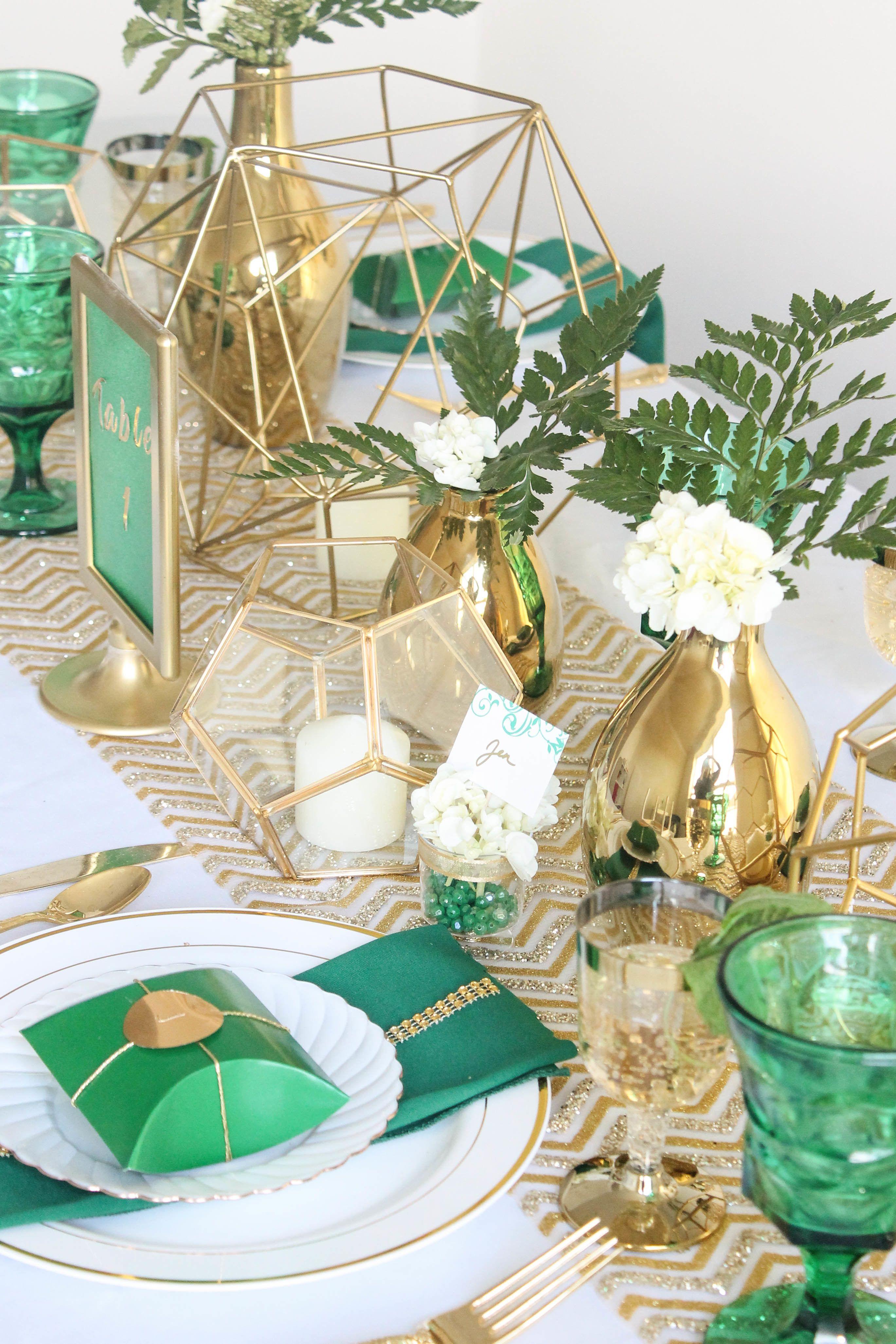 30++ Green and gold centerpiece ideas ideas