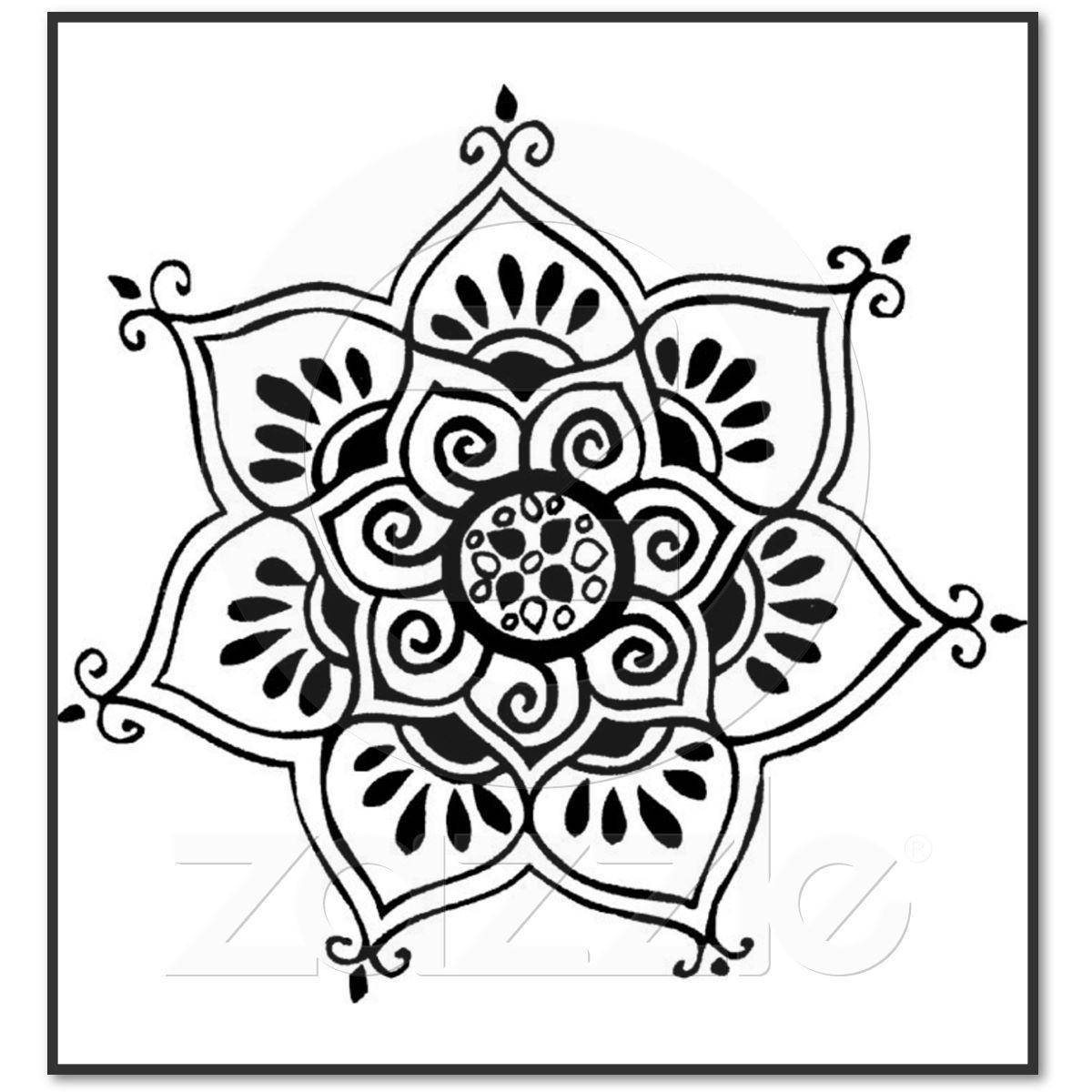 Lotus flower tribal tattoo poster lotus flower flower designs and lotus flower tribal tattoo poster izmirmasajfo