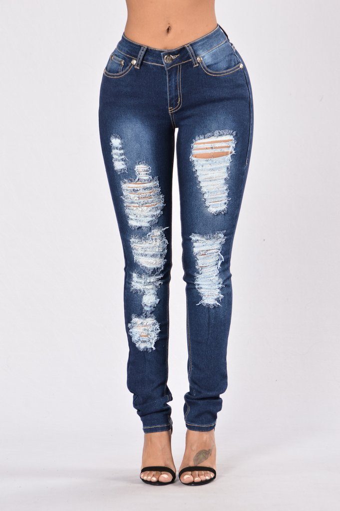 Destroyed Ripped Dark Blue Jeans Diplomatic Xchange Blue Ripped Jeans Destroyed Skinny Jeans Skinny Jeans