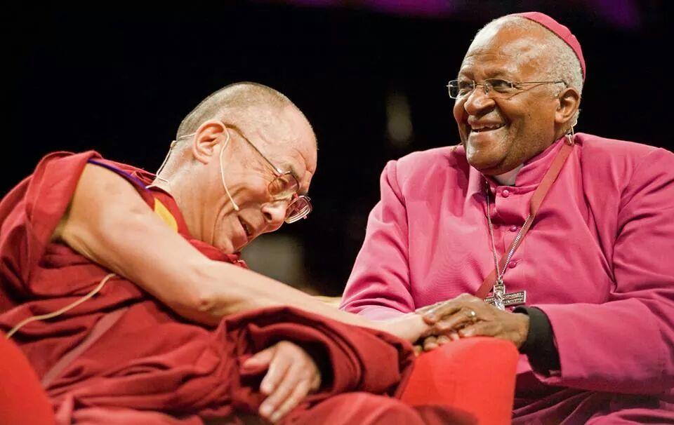 Dalai Lama en Desmund Tutu