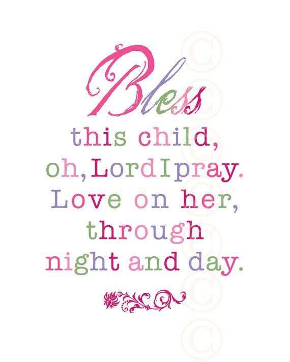 baby shower girls art print prayer bless this child pink by jeannewinters 2100