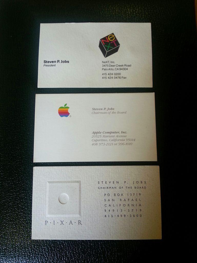 Steve Jobs\' business cards sell for $10,000 | Steve jobs, Business ...