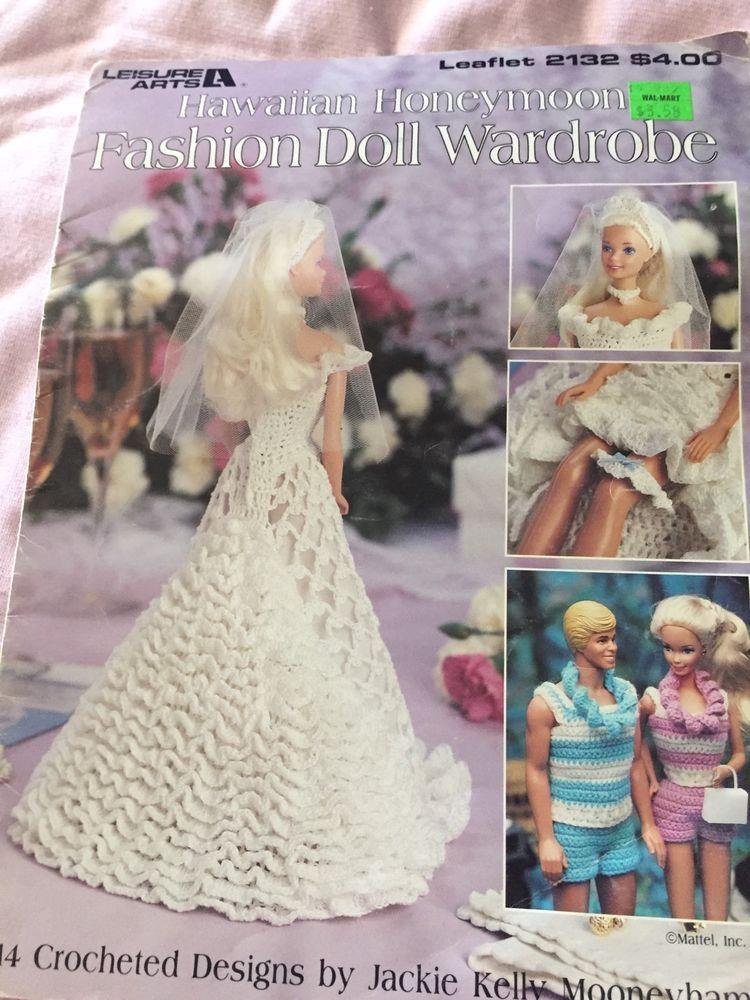 Hawaiian Honeymoon Crochet Pattern Booklet For 11 1/2 Inch Fashion ...
