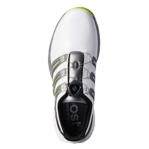 Adidas Pwrband Boa Boost Men S Golf Shoes 10 Medium White Iron