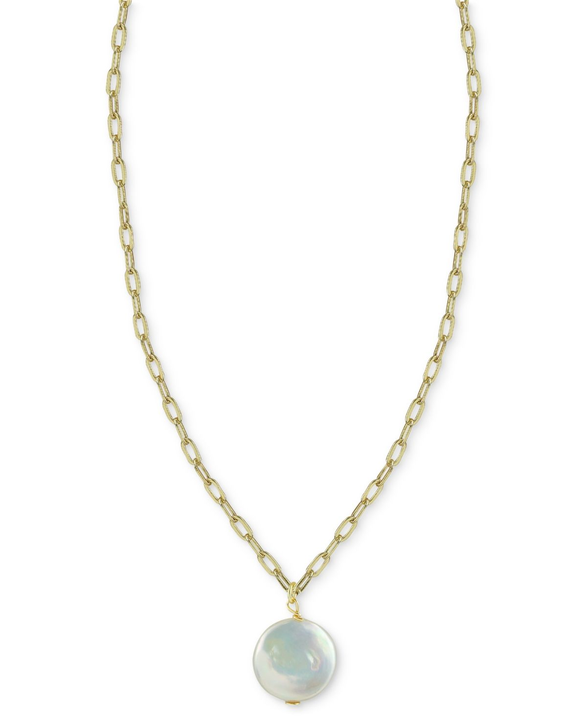 Bring a sense of sophistication to your fave outfits with this dazzling cultured freshwater baroque pearl pendant necklace, from Argento Vivo.