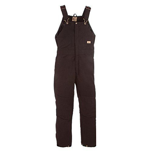 Berne Women's Washed Insulated Bib Overalls Tall Dark