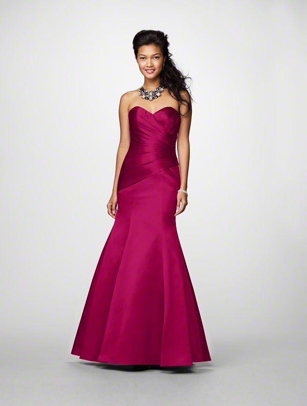 Alfred Angelo bridesmaid dress - style 7168, in wine