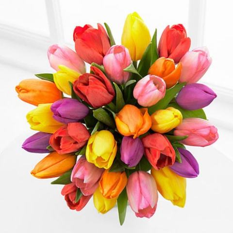 Flower Color Meanings The Symbolism Of Flowers Tulip Bouquet Popular Flowers Spring Flowers