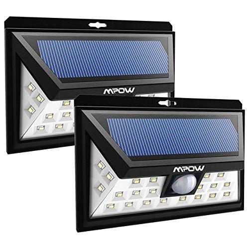 2 Pack] 24 LED Lampe Solaire Jardin Etanche sans fil Mpow Luminaire ...