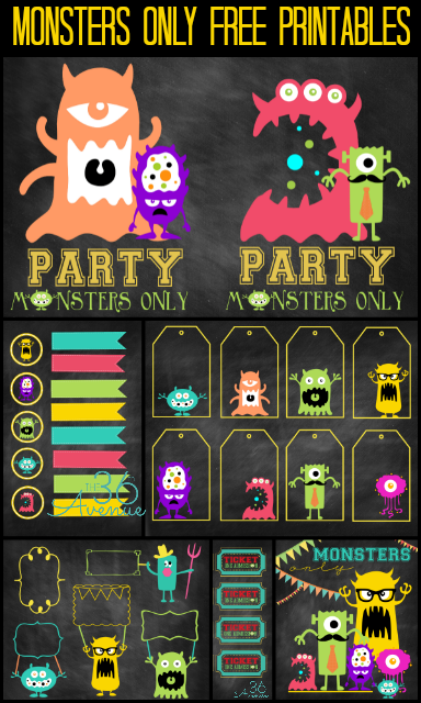 Monsters Party Free Printables At The36thavenue Monstersu
