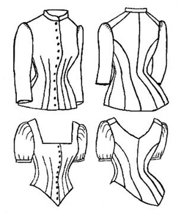 TV460  Truly Victorian Ladies 1885 Cuirass Bodice Pattern  87e813404