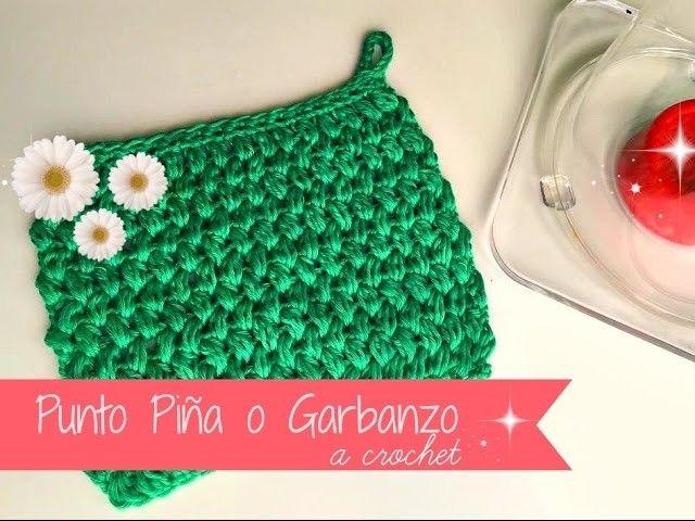 Punto Piña o Garbanzo a crochet, empezado sin montar cadenitas ...