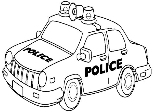 Car Police Patrol Coloring Page Police Car Car Coloring Pages