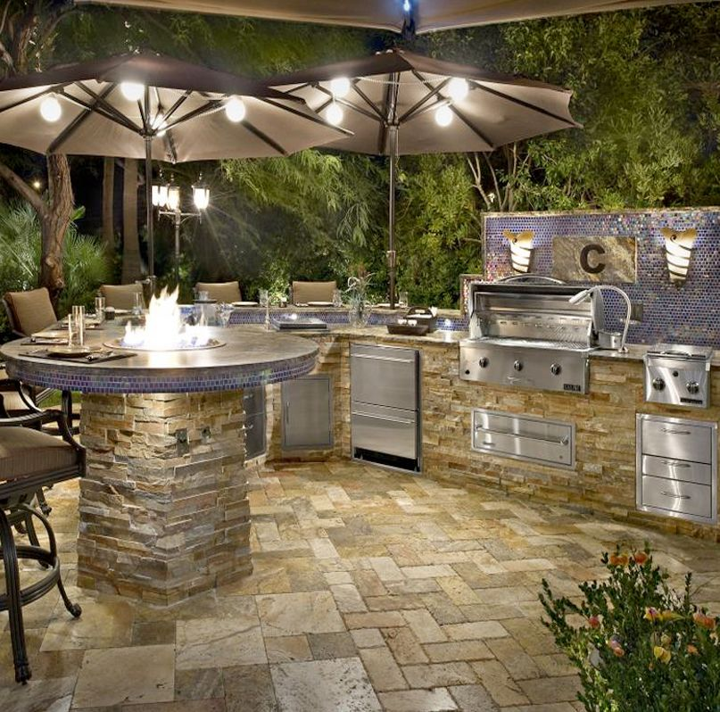 100 Outdoor Kitchen Design Ideas Photos Features: Modern Outdoor Kitchen, Outdoor Kitchen
