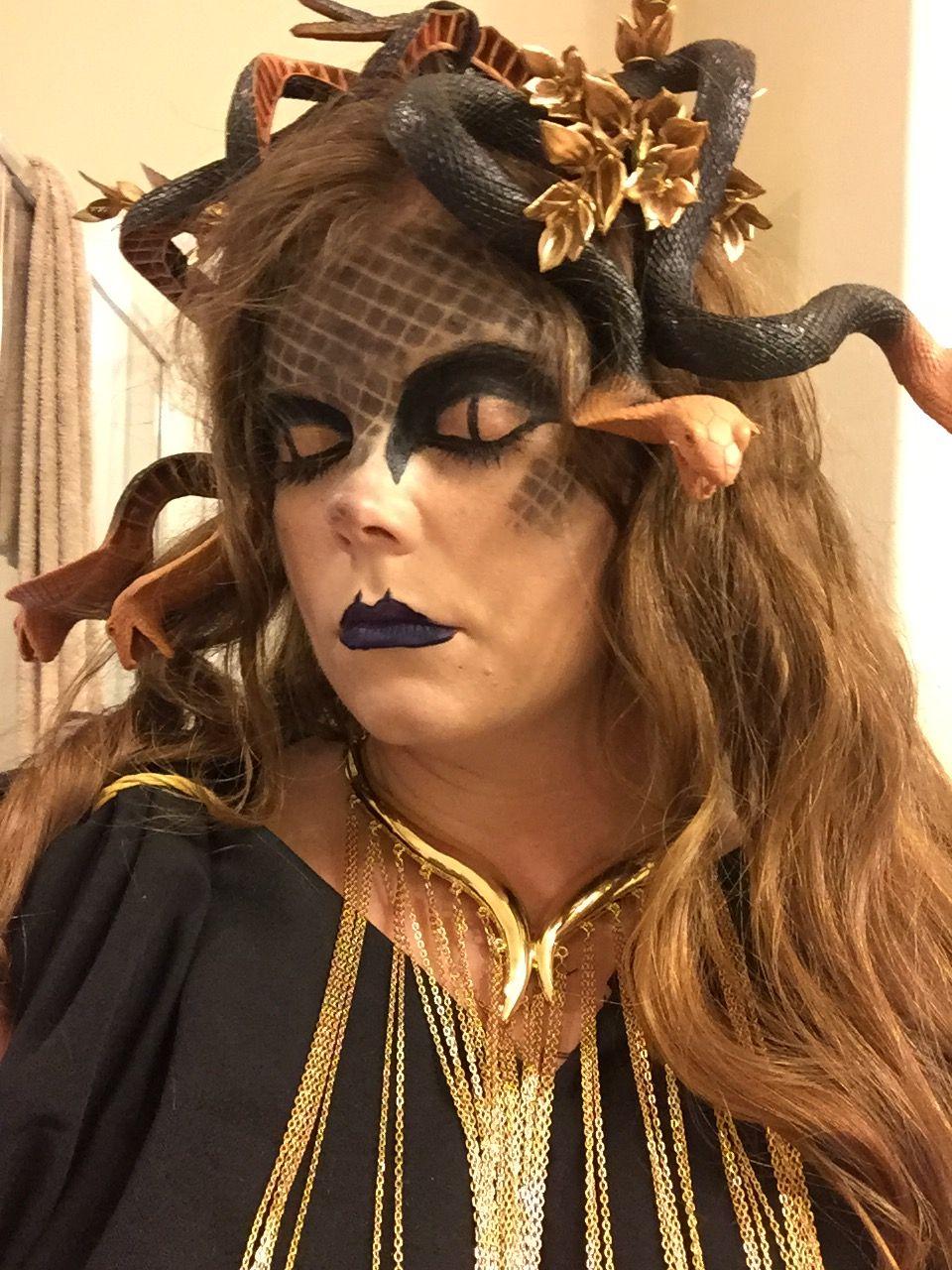 medusa makeup - greek god costume | toga! toga! in 2018 | pinterest