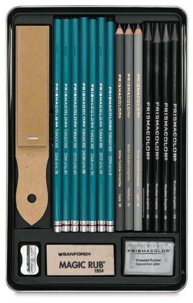 Colouring Pencils Graphite Supplies Box Set Drawing Sketching Artist Pencil