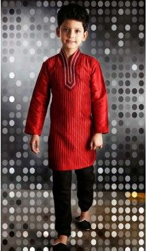 72306a4a8172b Flamboyant Red Boys Wear Kurta Pyjama #boys, #kurta, #sherwani ...