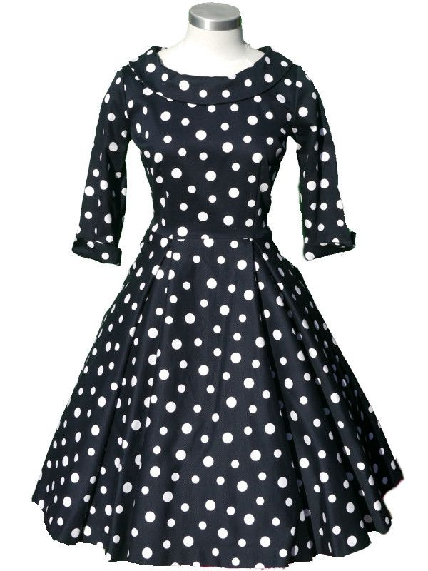 Beatrice Dress - Navy Spot