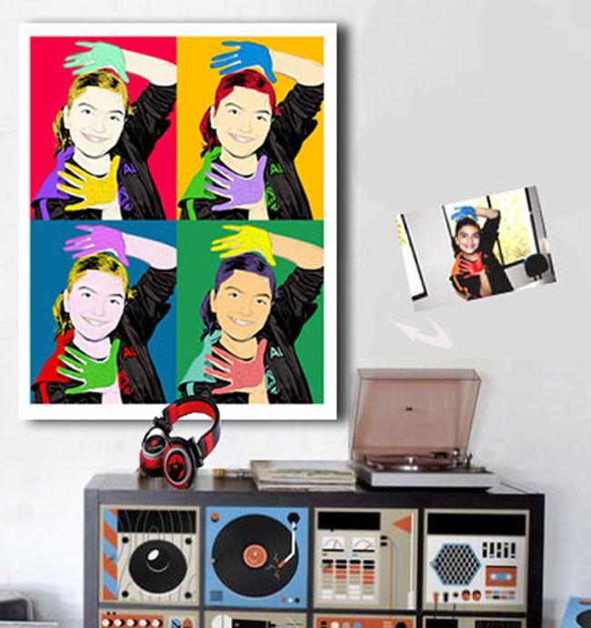 Quadro personalizado com sua foto no estilo Pop Art Warhol, despachamos para todo o país via Correio, em SP retire na loja - www.fotopop.com.br