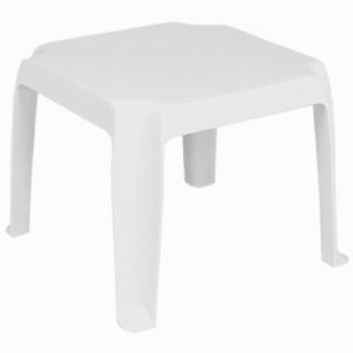 Sunray Resin Square Side Table [Set Of Color: White