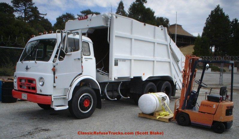 Classic Refuse Trucks Scott Blake 2r Packmaster Rubbish Truck Garbage Truck Trucks