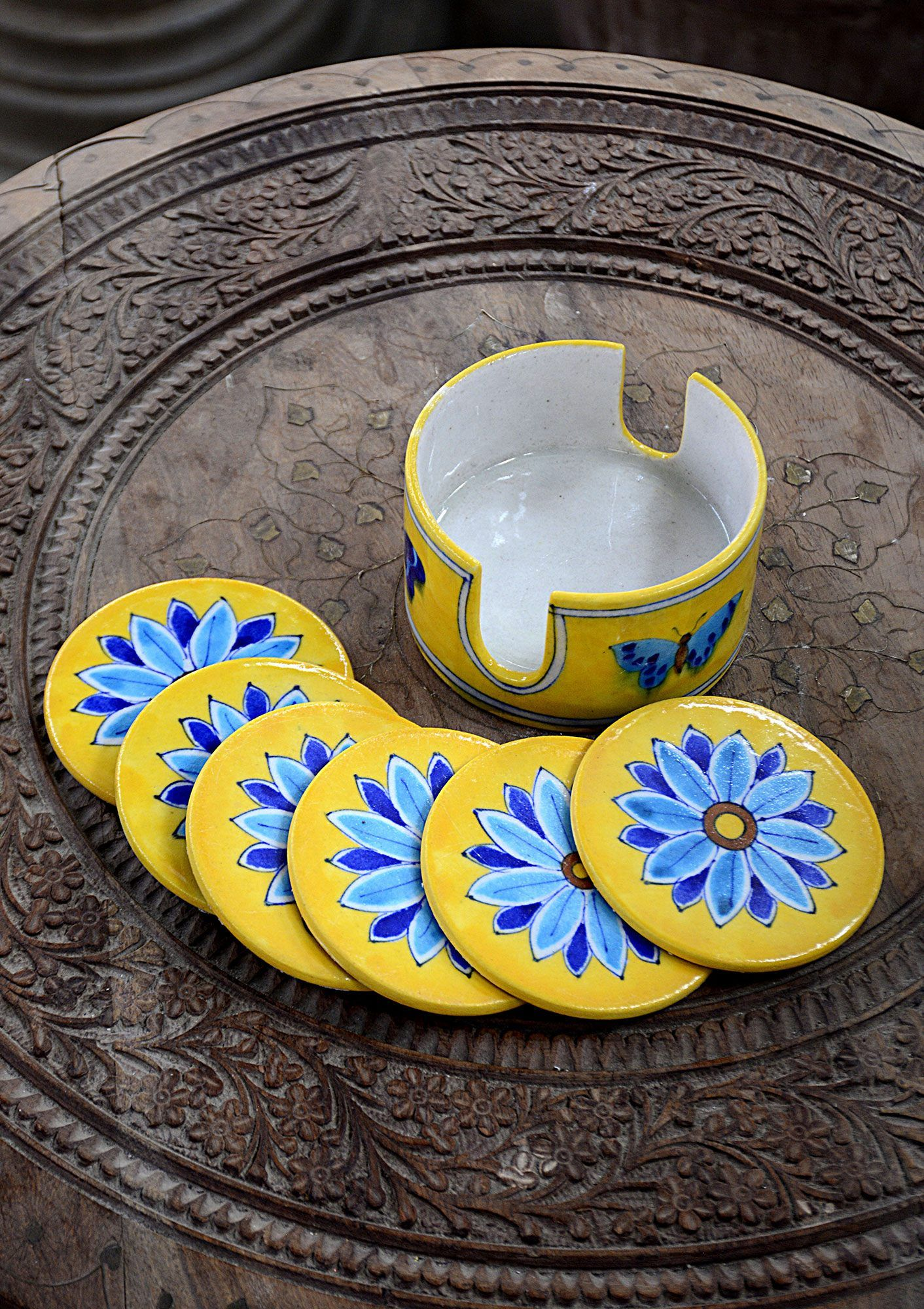 Hand Crafted Coasters Dinning And Bath Bd This Handcrafted Coaster Set Elegant And Beautiful Enhances The Beauty Of Your House An Handcraft Crafts Hand Painted