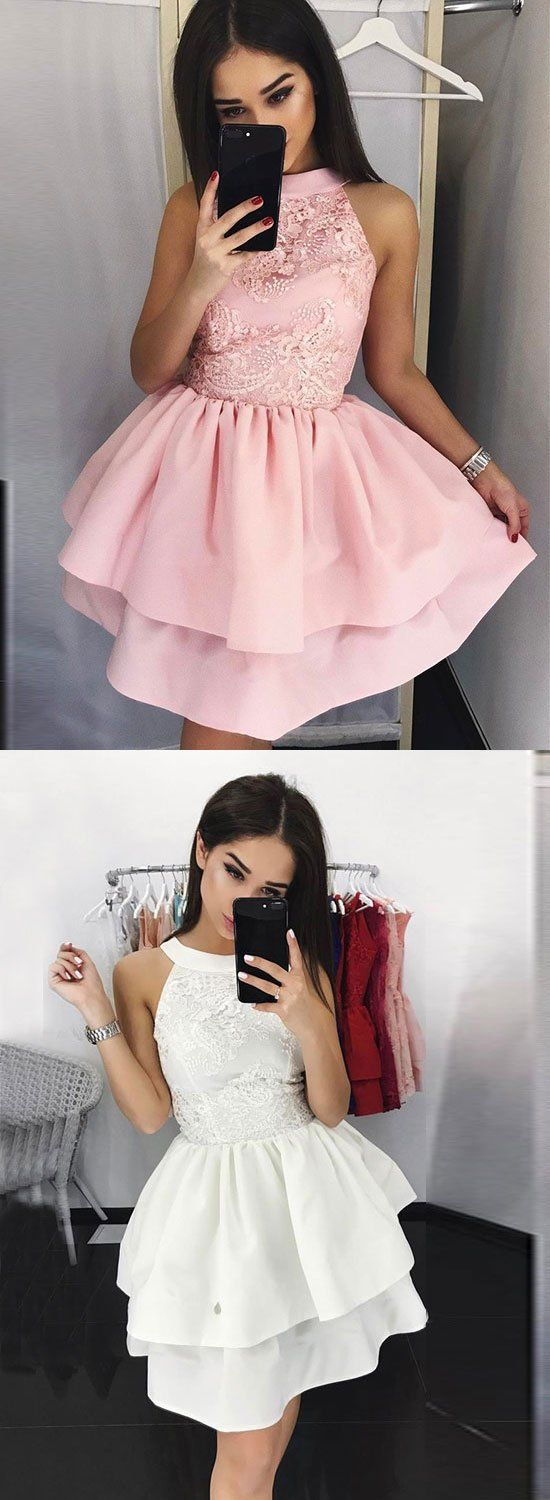 Stylish a line lace short prom dress homecoming dress short prom