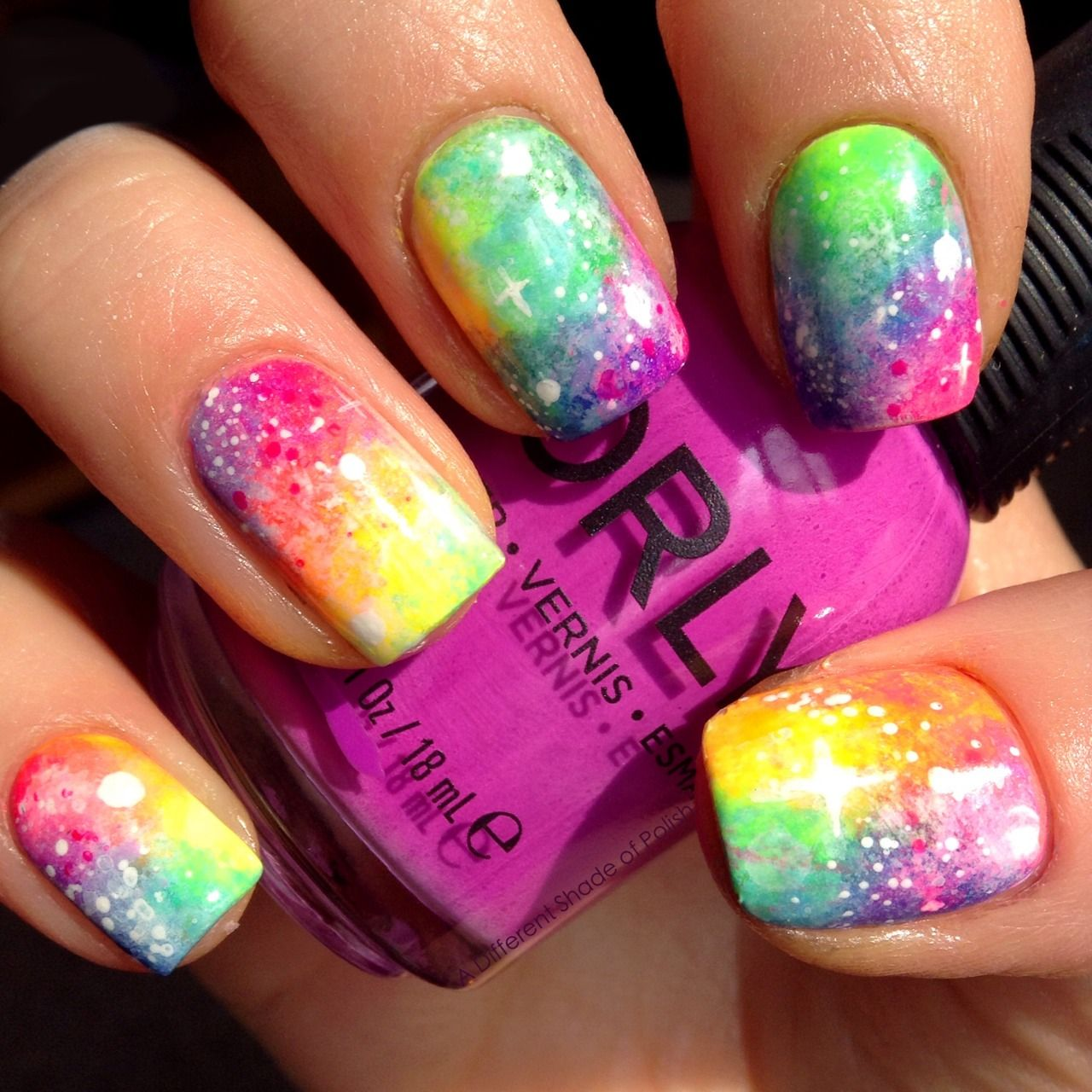 Neon Galaxy Nails by A Different Shade of Polish | Nails and Polish ...