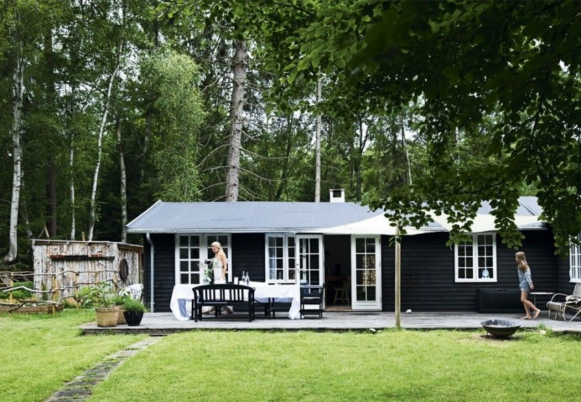 Danish Summer House Design: Modern Rustic Style In A Danish Summer House