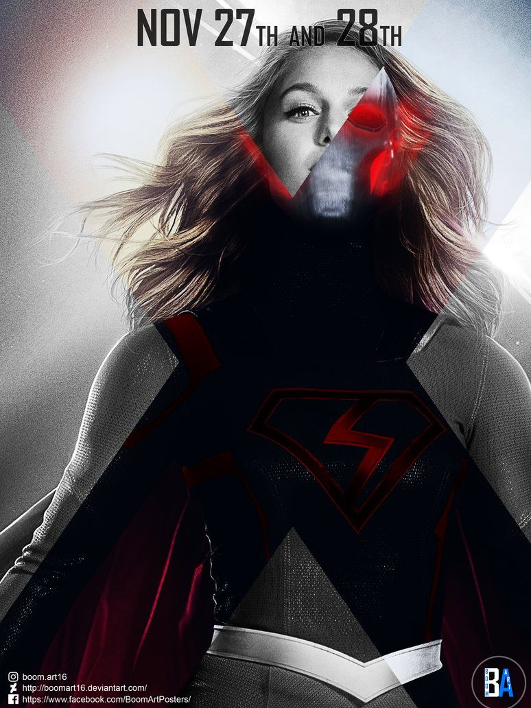Crisis On Earth X Supergirl Poster By Boomart16 Ideias Esboco
