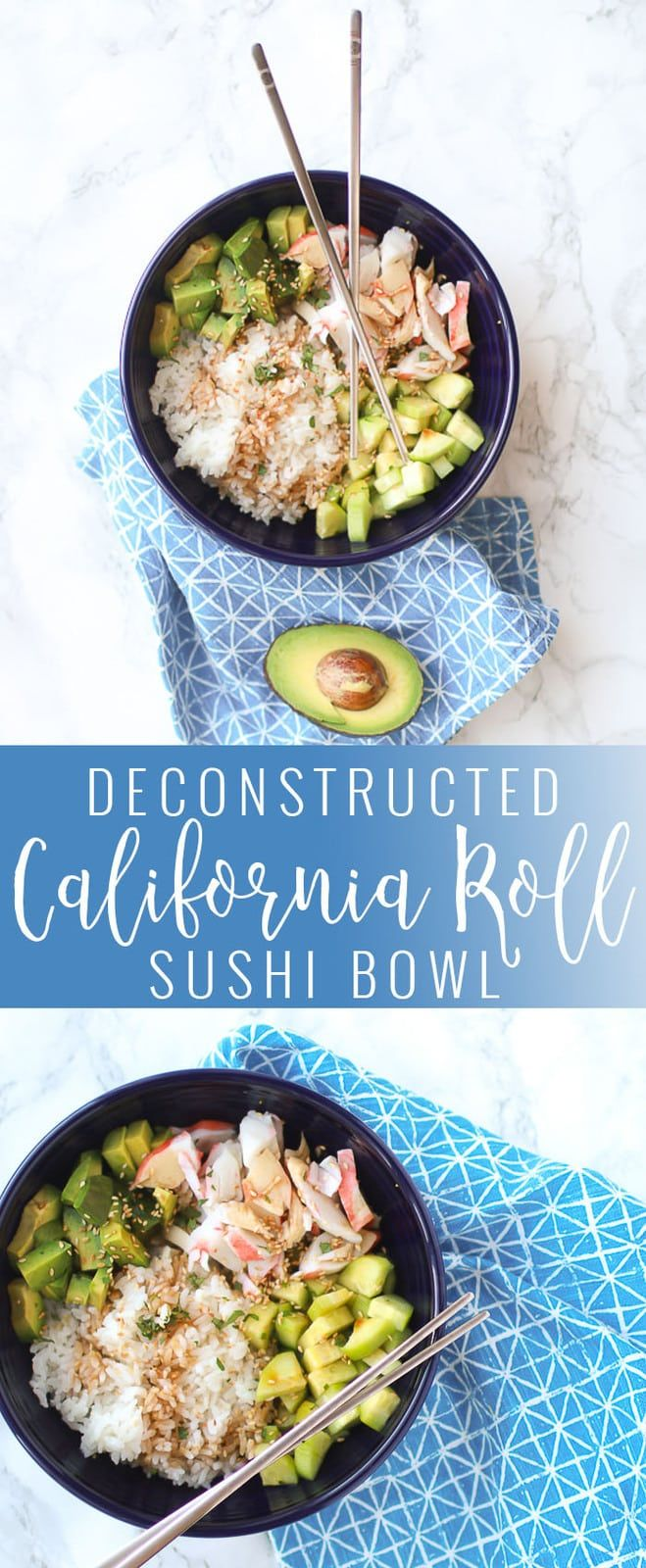 Deconstructed California Roll Bowl images
