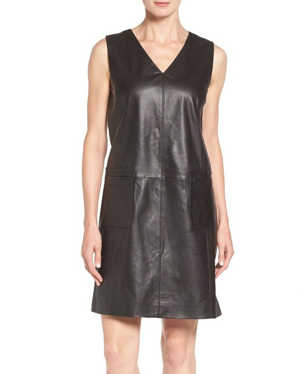 Leather dresses cheap