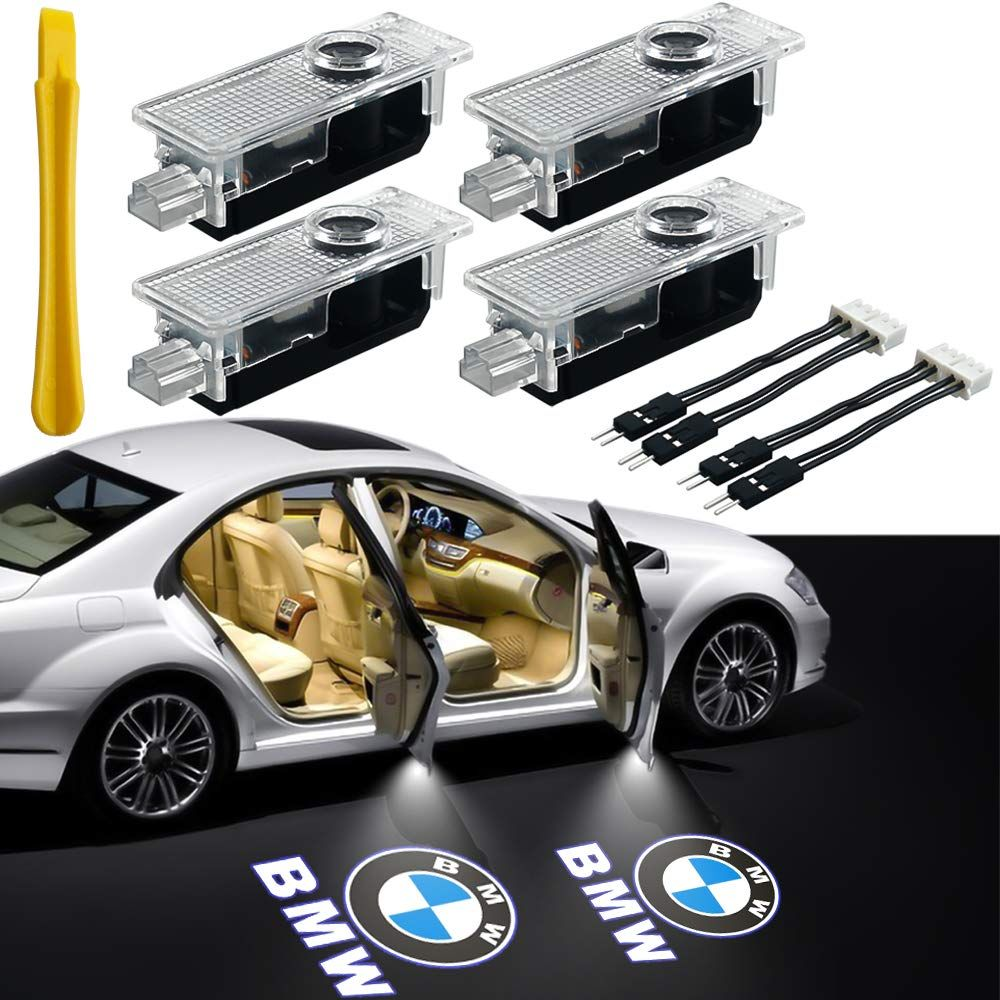 4 Pcs Car Door Light Projector Courtesy LED Laser Welcome Lights Ghost Shadow Light Logo Lamps for BMW X1 X3 X4 X5 X6 3//5//6//7//Z//GT