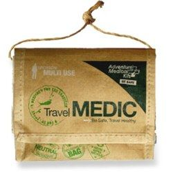 Treat minor injuries and ease discomforts associated with travel with the Adventure Medical Travel Medic first-aid kit. $10.95