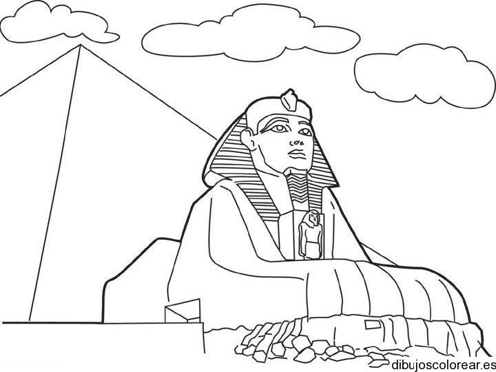 Dibujo Para Colorear Viajar: Dibujos Egipcios Para Colorear