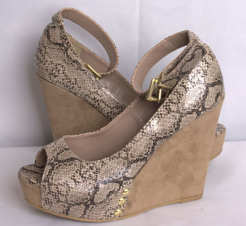 a0c2cebbee4 Details about Chinese Laundry Womens Size 7.5M Sexy Snake Skin ...