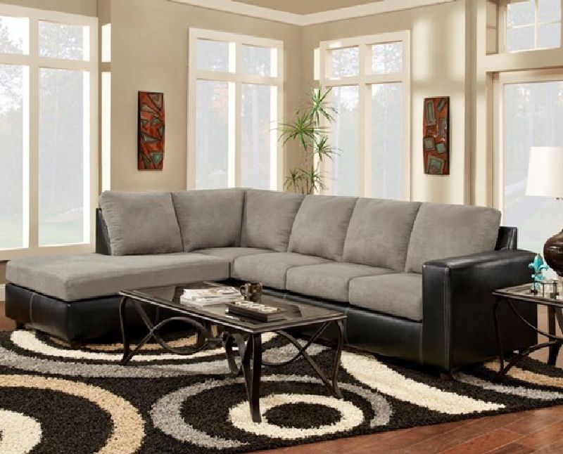 Sensations Grey Sectional By Affordable At Furniture Warehouse