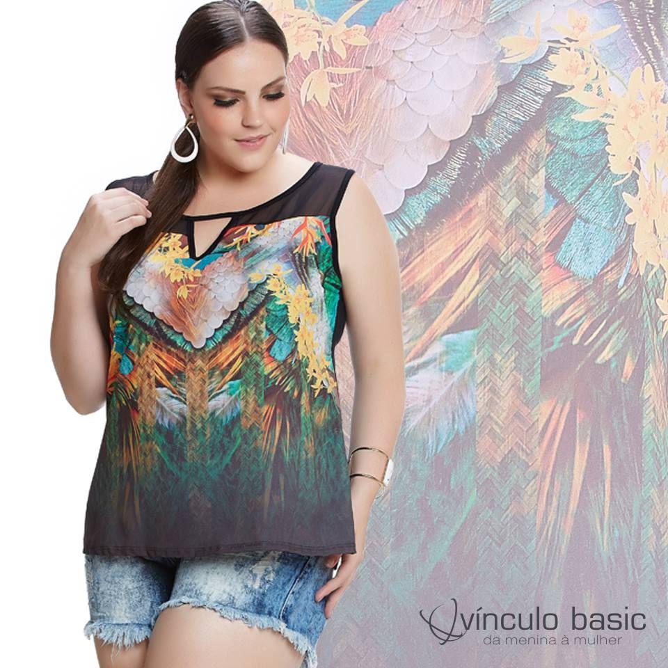 Essa blusa é para você que, como nós, adora uma estampa luxo toda poderosa! 😍  http://www.vinculobasic.com.br/ #vinculobasic #primavera #verao #plussize