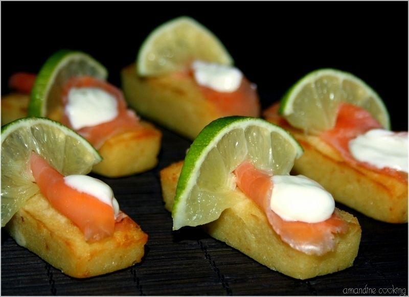 voici une recette d 39 amuse bouche festif assez rapide faire qui changera des toasts au saumon. Black Bedroom Furniture Sets. Home Design Ideas