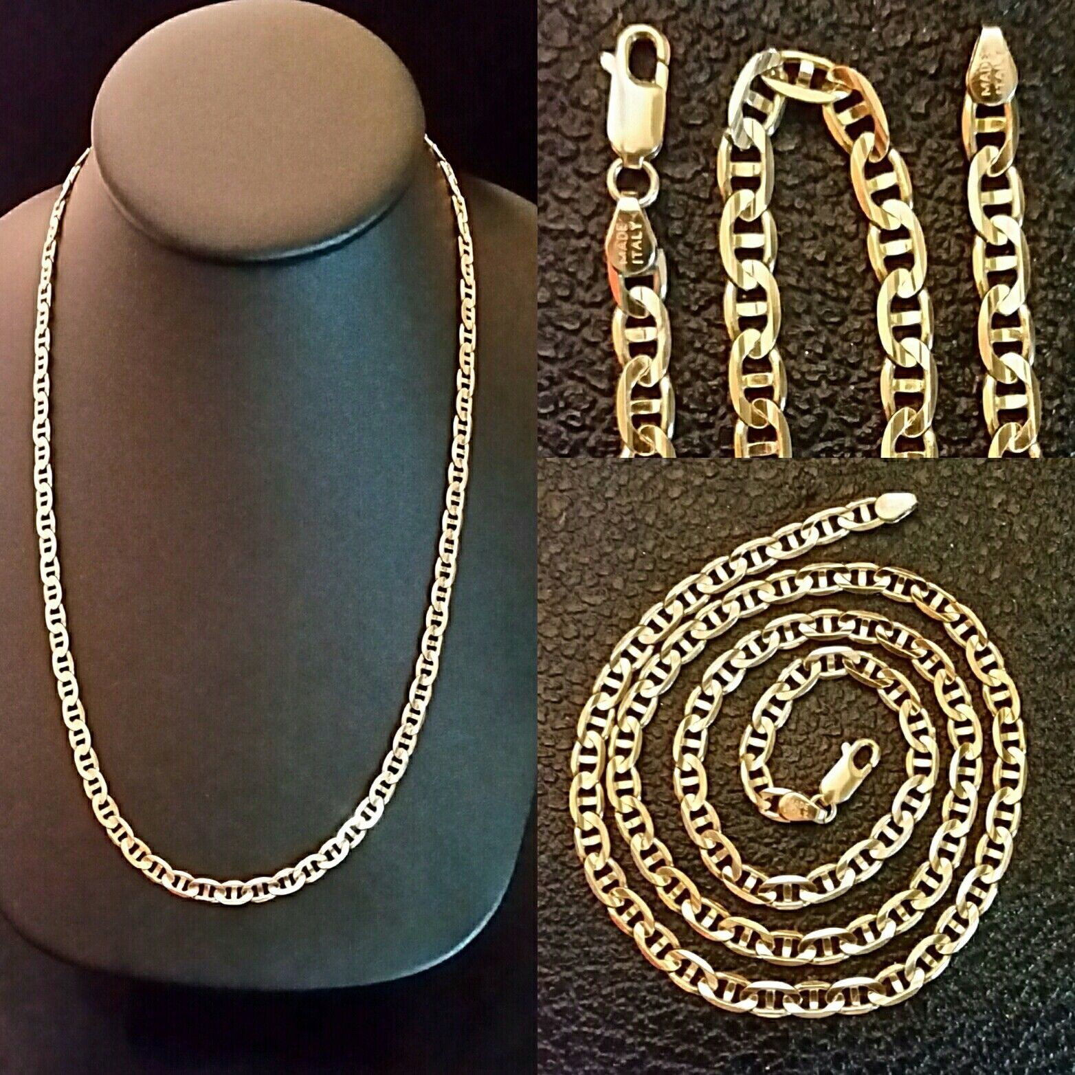 b000a30ee9d6e 14k Gold Chain Necklace GUCCI MARINER Link SOLID GOLD 20.4