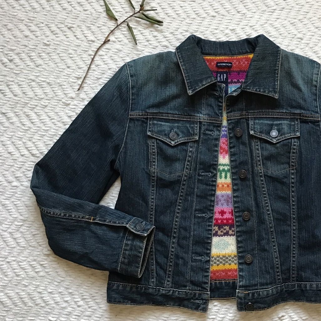 Gap vintage wool lined jean jacket vintage wool and products