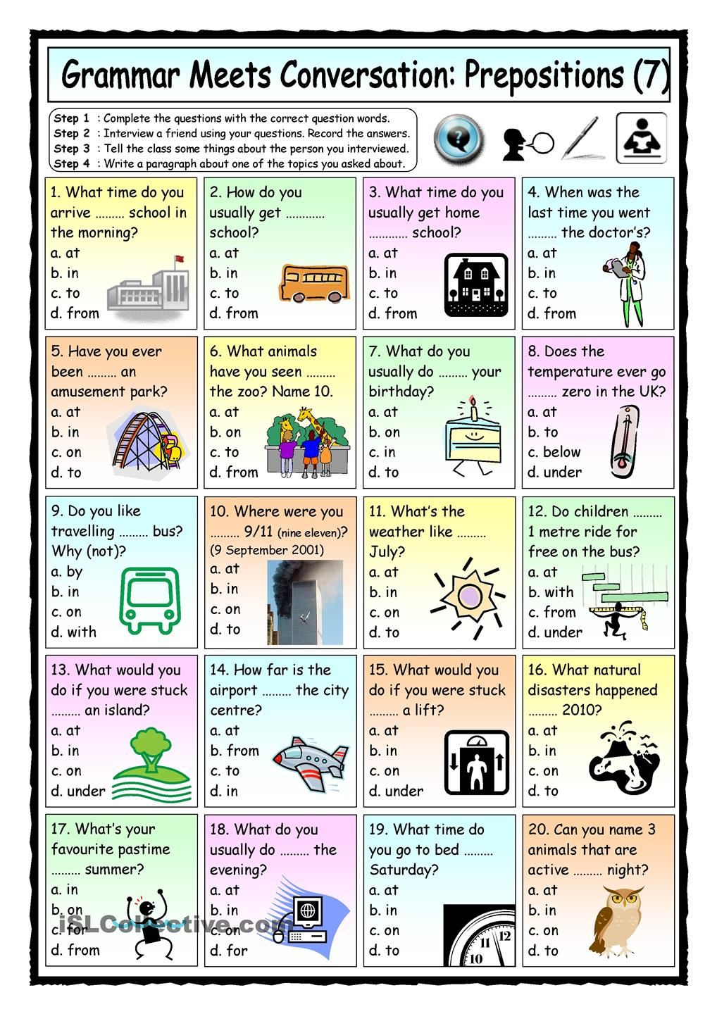small resolution of Grammar Meets Conversation: Prepositions (7) - Asking Questions   Learn  english
