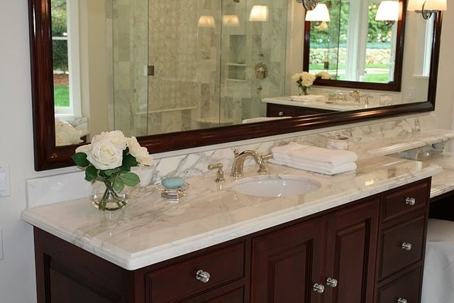 Best Calacatta Gold Bathroom Vanity Top Master Bath Remodel 400 x 300