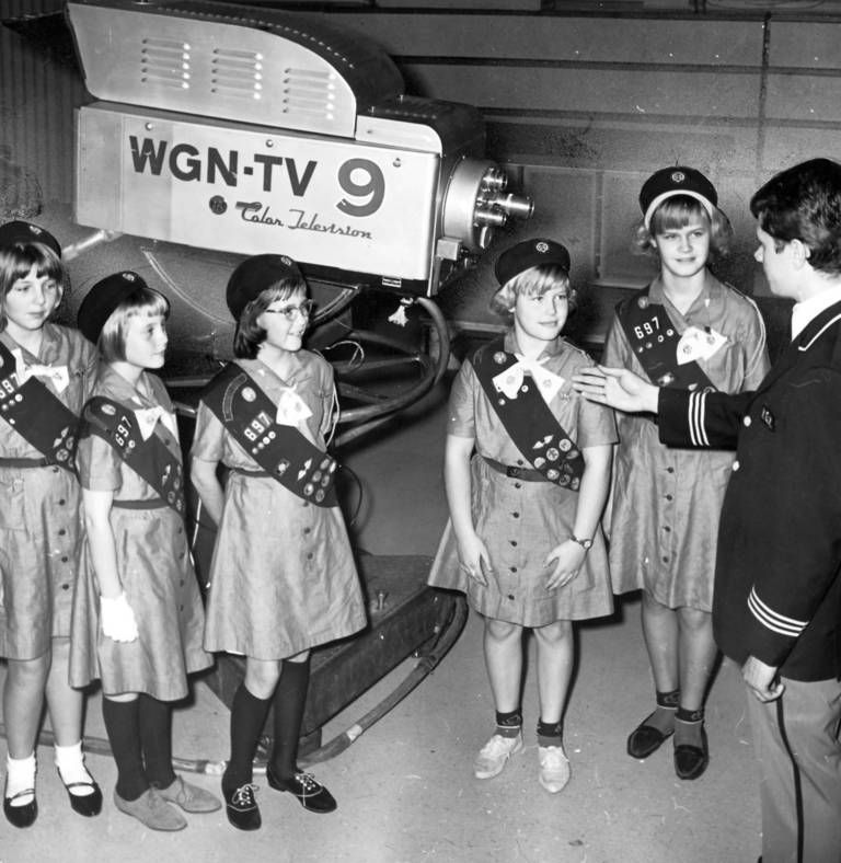 1965 Girl Scout Field Trip To A TV Station - Chicago